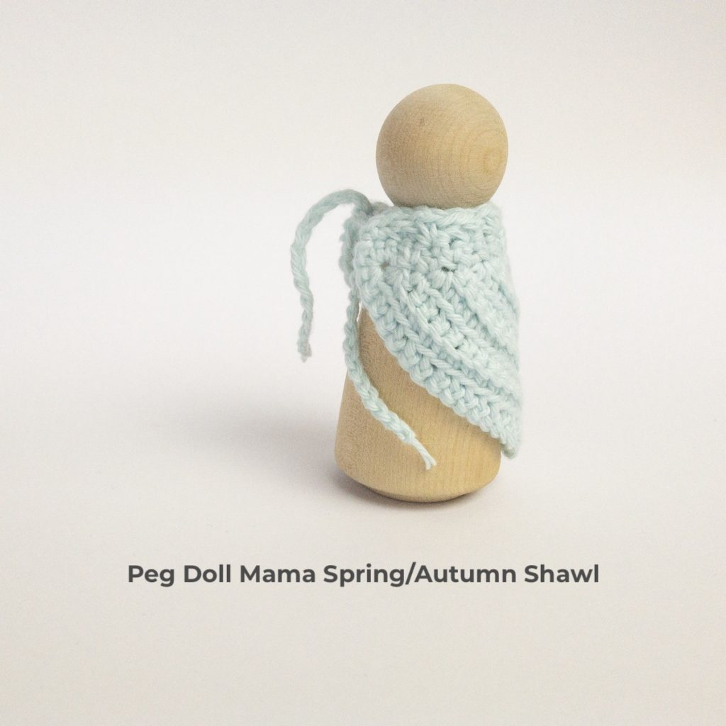 Peg Doll Mama Spring/Autumn Shawl