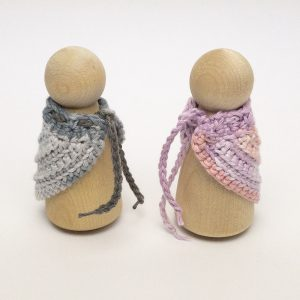 Peg Doll Mama shawl colour changing 2