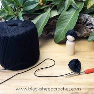 Beanie Brother black making tut