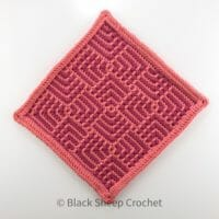 Art Deco Tiles Red swatch completed